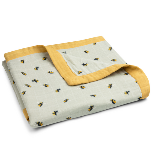 Bamboo Big Lovey Blanket in Bumblebees