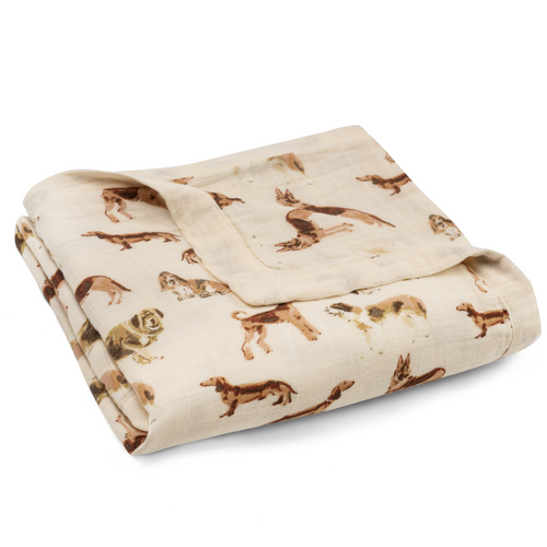 Bamboo Big Lovey Blanket in Natural Dogs