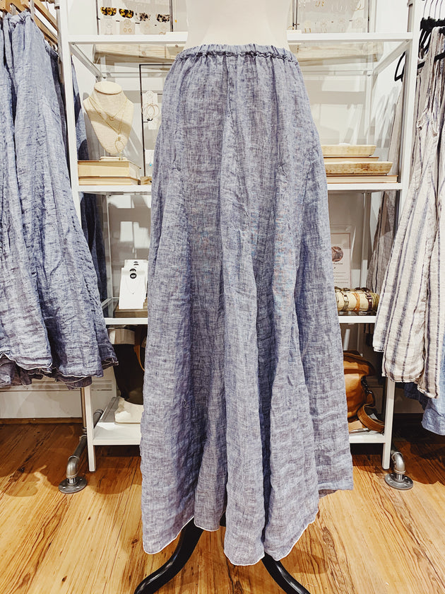 Lily Maxi Skirt in Chambray