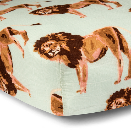 Bamboo Crib Sheet in Lions