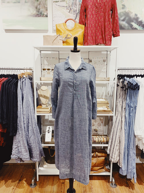 Rumer Dress in Cotton Chambray