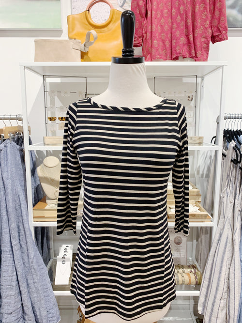 Kai Top in Black & Sahara Stripe