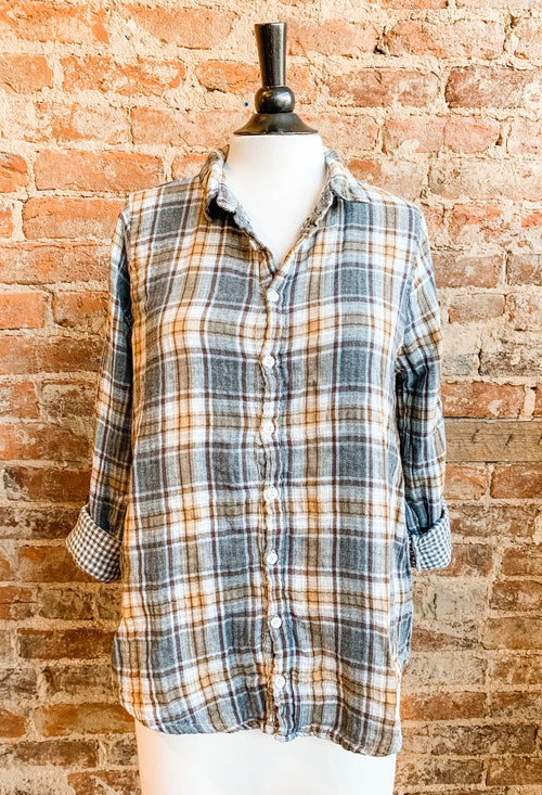 Romy Shirt in Cotton Plaid