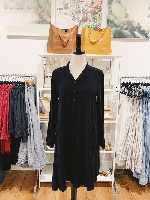 Jasmine Dress in Black Rayon