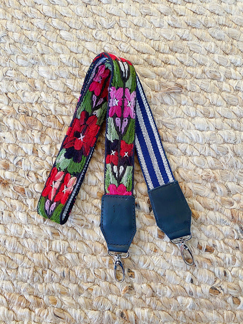 Vintage Embroiderd Bag Strap No. 16