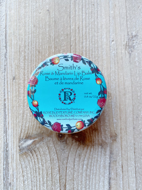 Smith's Rose & Mandarin Lip Balm Tin