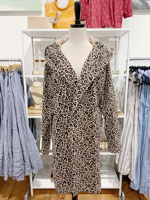 Levity Wrap Jacket in Leopard