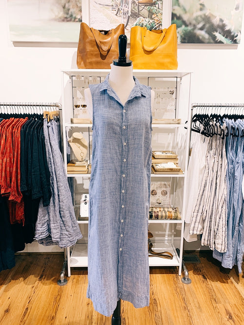 Florence Dress in Chambray