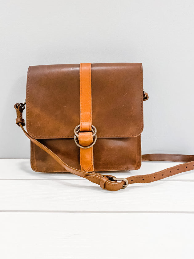 Ebisse Crossbody in Chocolate & Whiskey