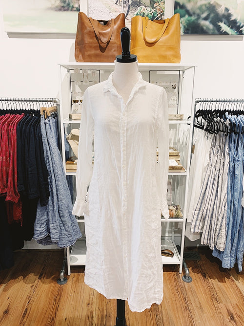Maxi Dress in White Linen