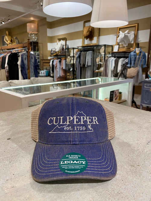 Culpeper Trucker Hat in Blue