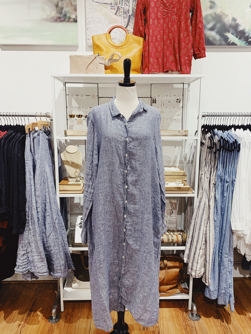 Maxi Dress in Chambray