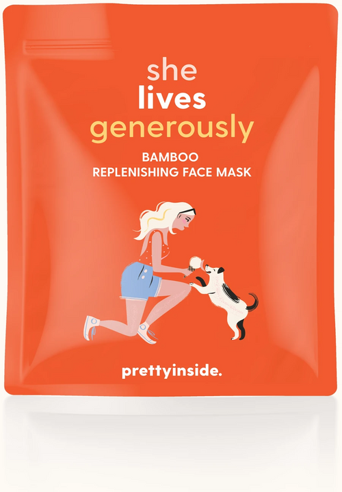 She Lives Generously Face Mask