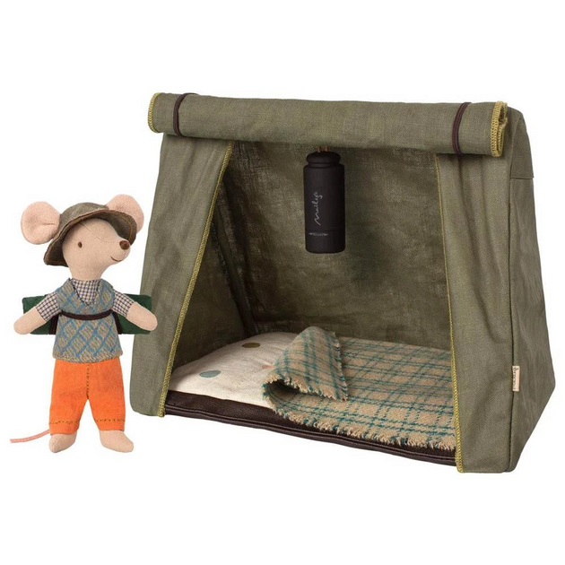 Camping Mouse with Tent