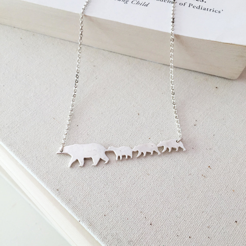 Mama Bear & Babies Necklace
