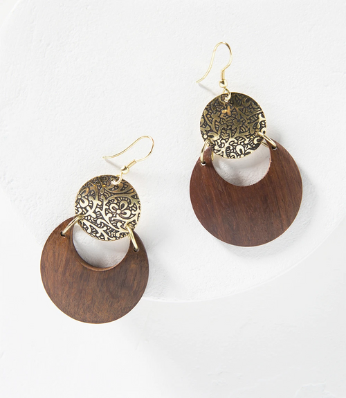Earth and Fire Earrings in Lunar