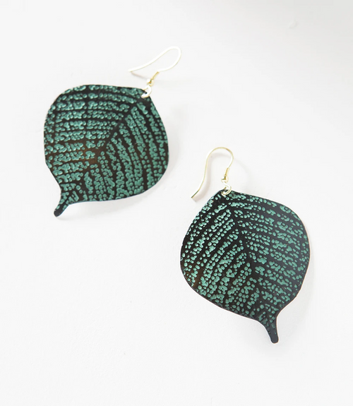 Devika Earrings in Bodhi Leaf