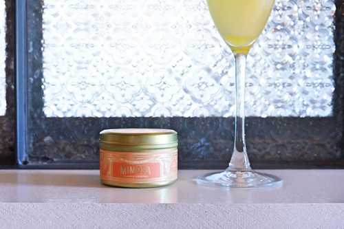 Mimosa Travel Tin Candle