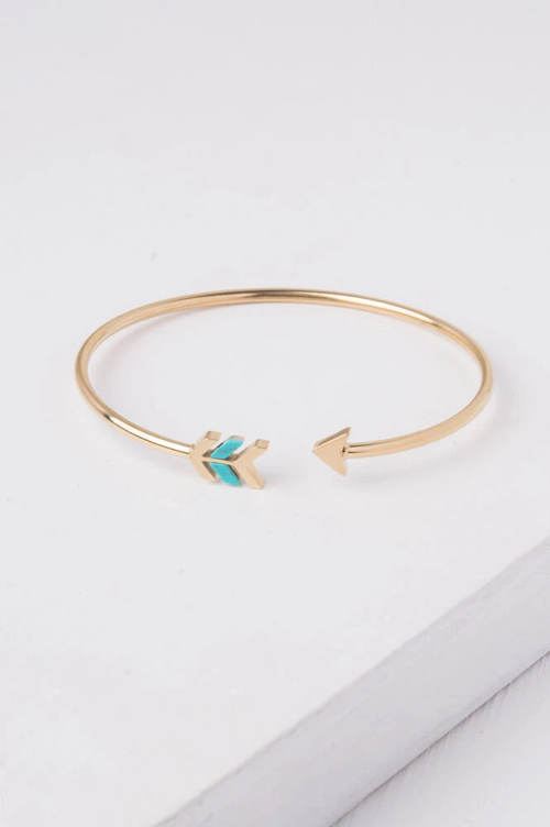 Montana Gold & Turquoise Cuff Bracelet