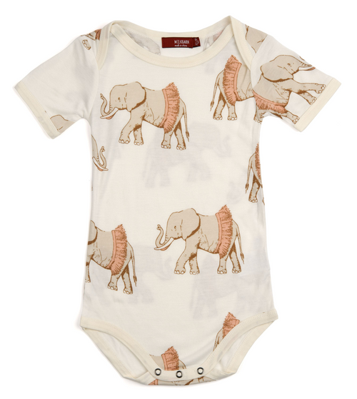 Bamboo One Piece in Tutu Elephants