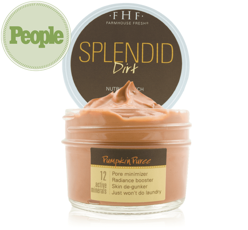 Splendid Dirt- Nutrient Mud Mask with Organic Pumpkin Puree