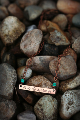 fly fishing necklace trout necklace spirit animal necklace bar necklace