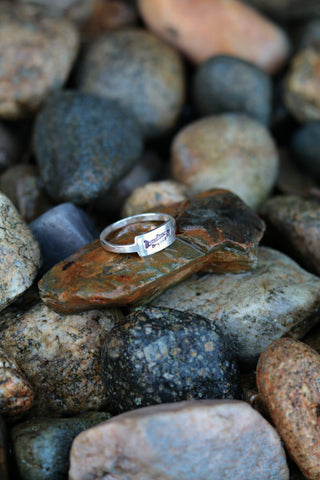 sterling silver fly fishing trout ring