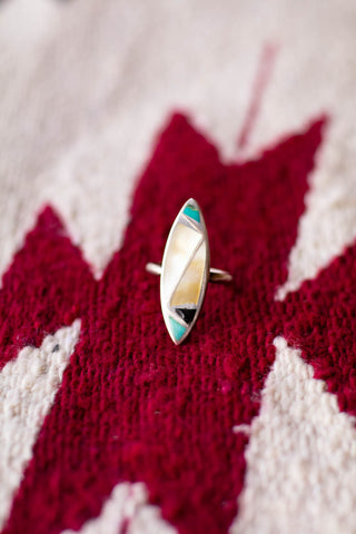Vintage Mother of Pearl Inlay Ring - Cowgirl Relics