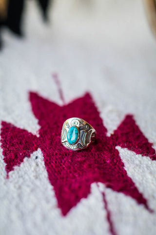 Vintage Sterling Silver Thunderbird Ring - Cowgirl Relics