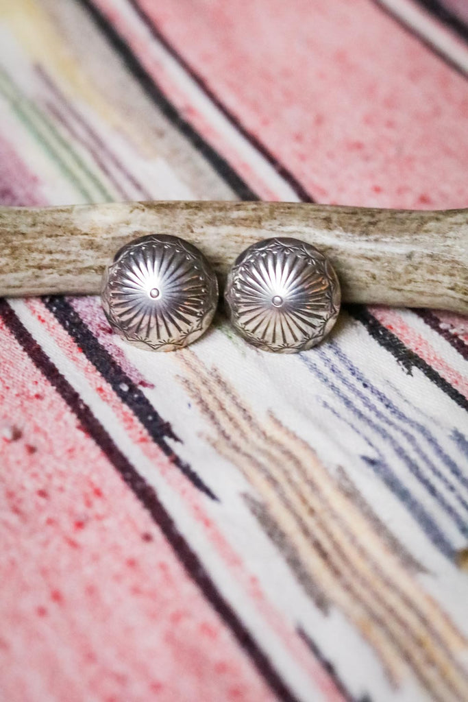 Vintage Concho Statement Earrings - Cowgirl Relics