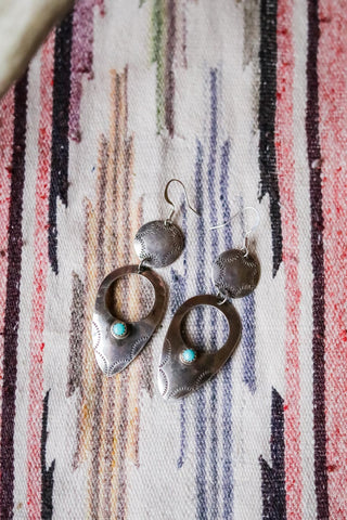 Vintage Sterling Silver Southwest Earrings - Cowgirl Relics