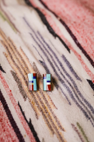 Vintage Inlay Earrings - Cowgirl Relics