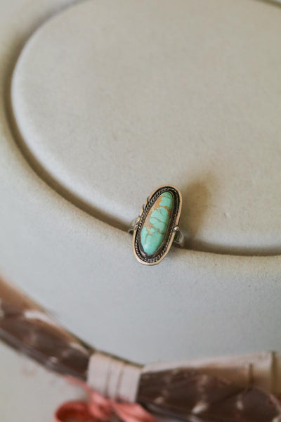 vintage southwest sterling silver and turquoise ring