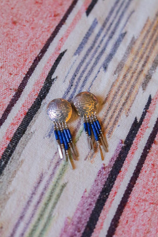Vintage Southwest Sunface Earrings