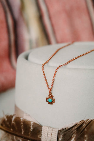 Vintage Southwest Copper Thunderbird Necklace