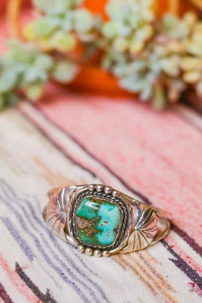 Vintage Southwest Turquoise Statement Cuff
