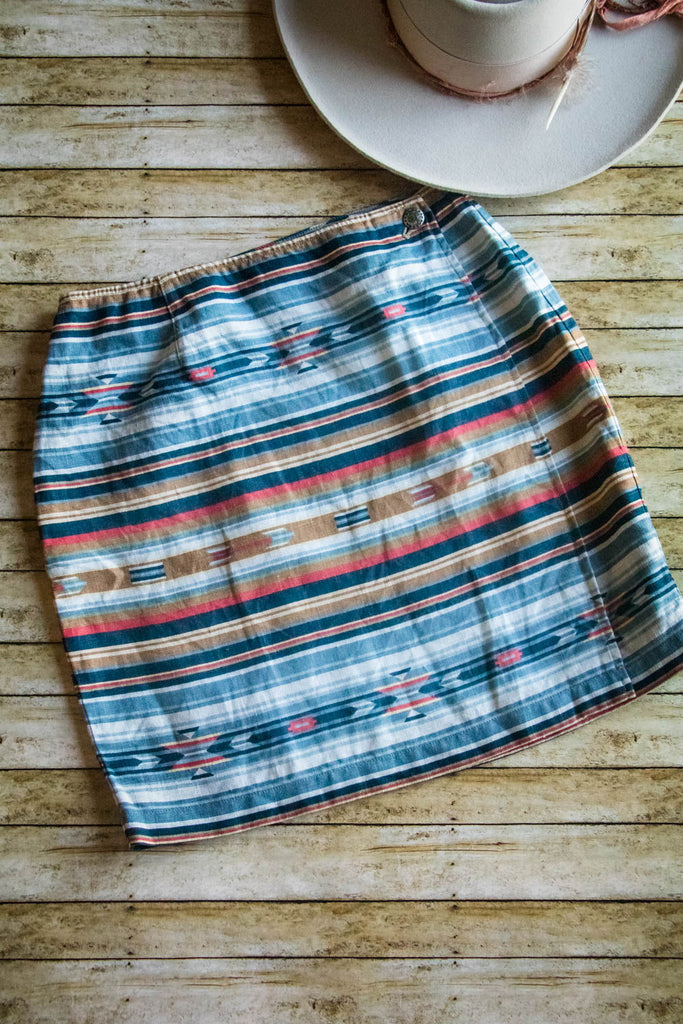 Vintage Southwest Wrap Skirt - Cowgirl Relics