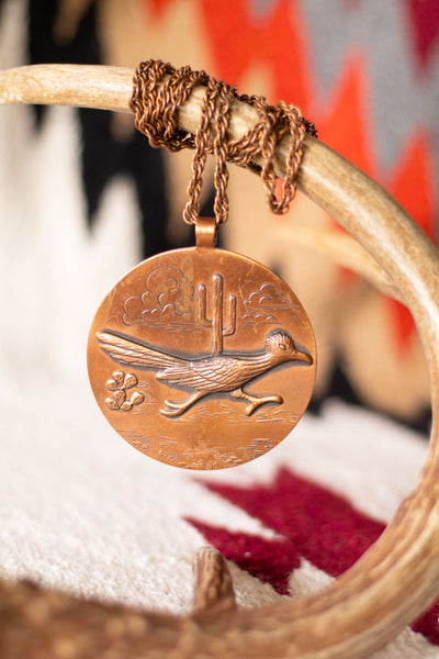 Vintage Roadrunner Necklace - Cowgirl Relics