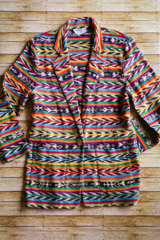 Vintage Southwest Serape Style Blazer - Cowgirl Relics
