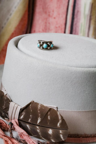 Vintage Sterling Silver and Turquoise Ring - Cowgirl Relics