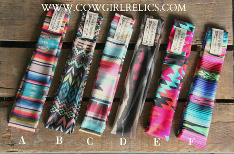 Stretchy Headbands by Pearls & Ponies--Western, Aztec, Tribal, Boho, Serape - Cowgirl Relics