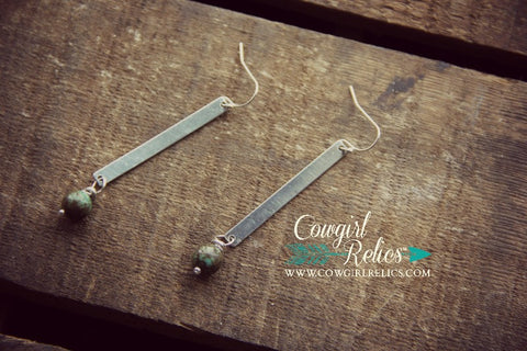 Piñon Pewter Western Earrings - Cowgirl Relics