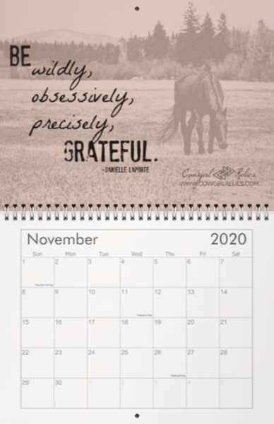 2020 Inspirational Calendar: PRE-ORDER - Cowgirl Relics