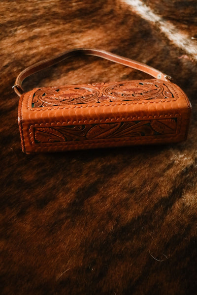 Vintage Tooled Leather Western Purse