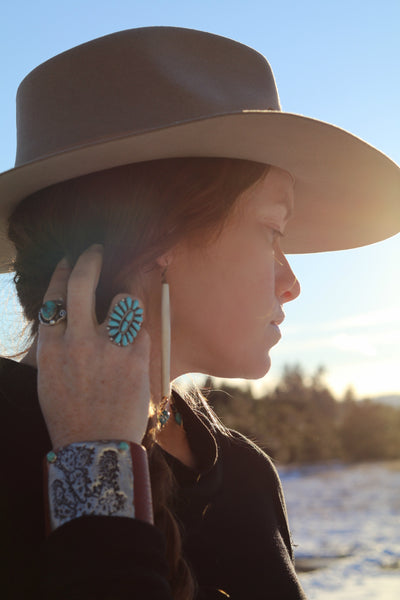 Cayuse Hairpipe Western Earrings - Cowgirl Relics