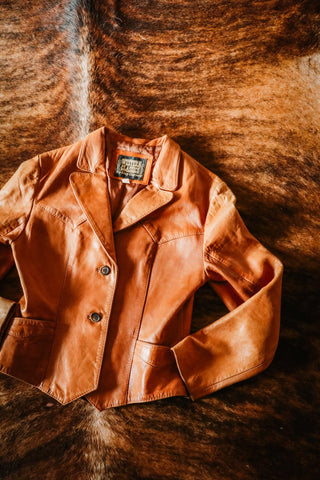 vintage leather western jacket