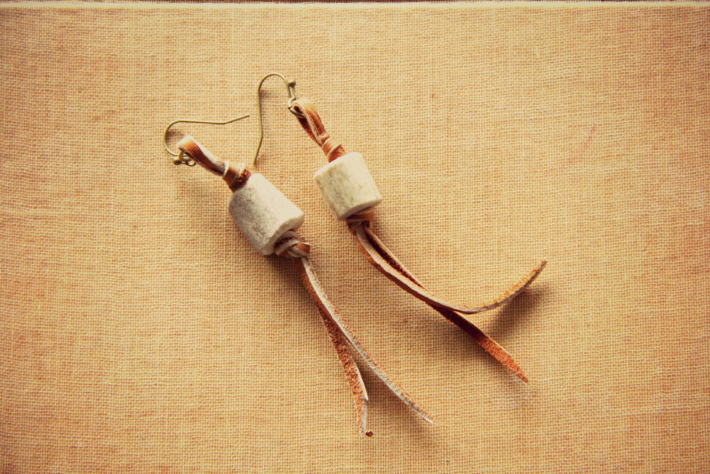 Dryden Antler Shed And Fringe Earrings - Cowgirl Relics