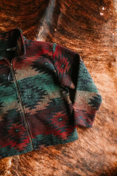 vintage earth tone southwest print jacket