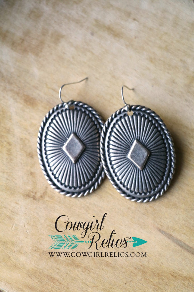 Great Basin Western Concho Earrings - Cowgirl Relics