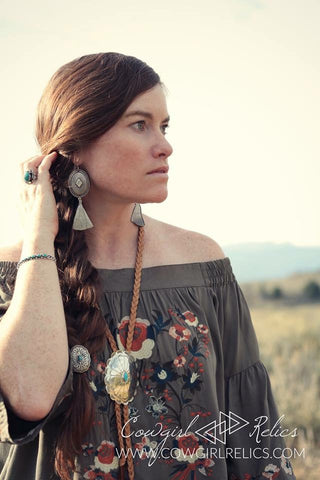 Concho Teepee Western Earrings - Cowgirl Relics